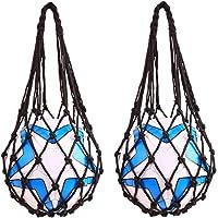 Basketball Net Bag Soccer Football Mesh Storage Sports Ball Holder Nylon Carry Bag Durable Single Ball Carrier Black 2…