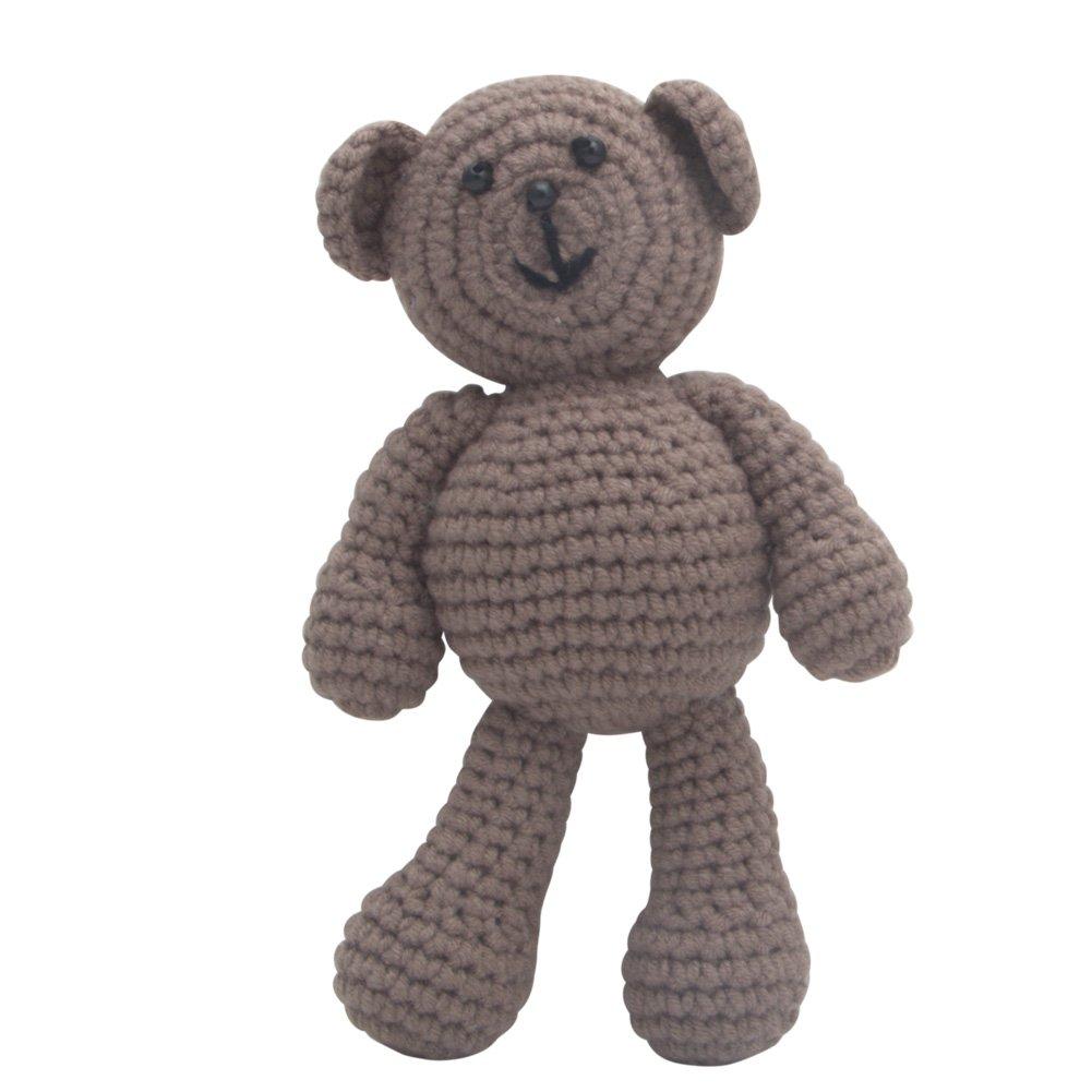 Tangc Newborn Baby Girls Boys Bear Photography Prop Photo Crochet Knit Toy Cute Gift (gray)