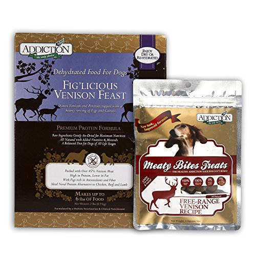 Addiction Pet Foods Fig'licious Venison Feast (Dog) 2lbs / Meaty Bite 4oz ()