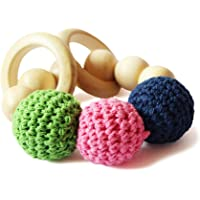 Shumee Wooden & Cloth Rattle Toy (0+ Years) - Explore Textures