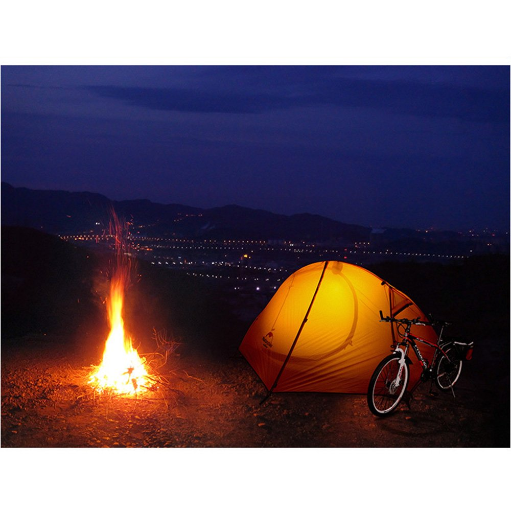Tentock 3 Saisons Ultral/éger Tente de Randonn/ée Double Couche Imperm/éable 20D Silicone Camping Tente pour 1-2 Personnes