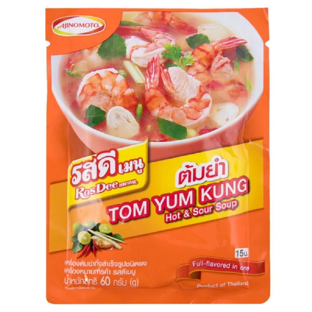 RosDee menu, Tom Yum Kung Powder, Authentic Thai Spicy Taste 60g X 3 Packs
