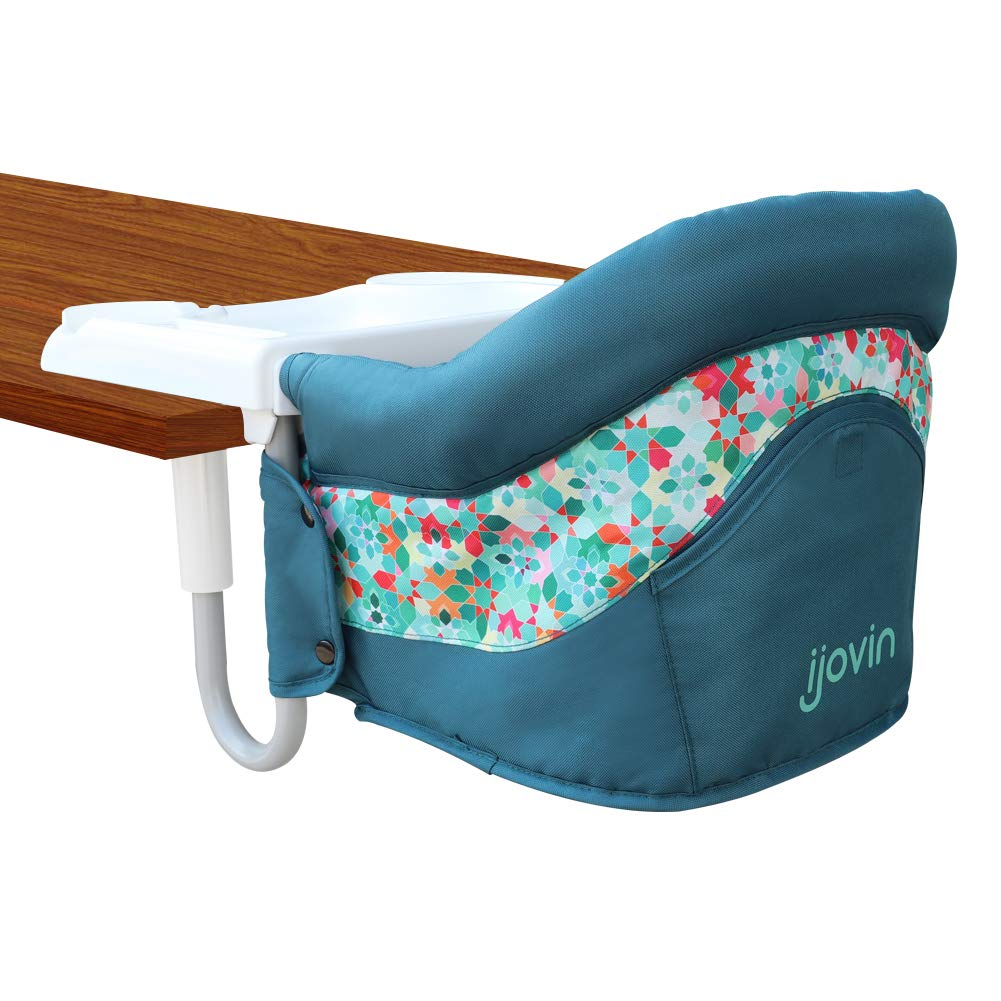 Hook On Chair, Fast Table Chair with Dining Tray for Babies and Toddlers, Portable High Chair for Home and Travel (Atrovirens)