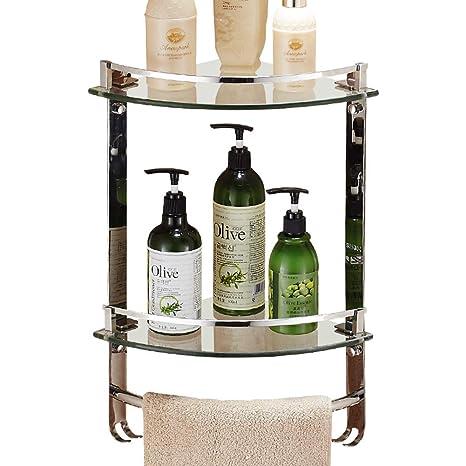 Amazon.com: BSEL Estantes de esquina para baño, estante de ...