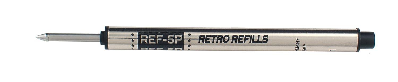 Retro 51 Tornado bola de tinta rodillo tinta de negro recargas por (REF5P - B) (tres paquetes) 5a4eba