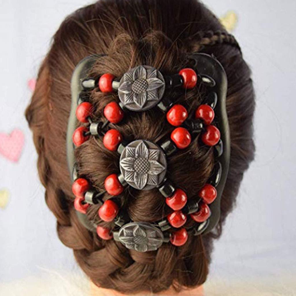 Rose F Fityle Pince /à Cheveux Magique pour Femme 16 x 10,3 cm