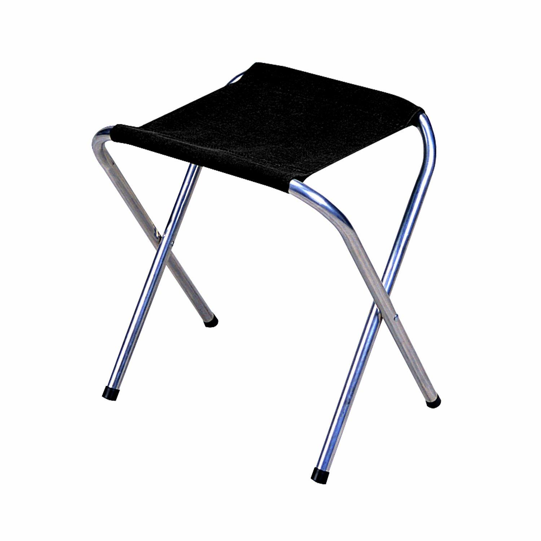 Stansport Folding Camp Stool (Black, 16 x 14-Inch)
