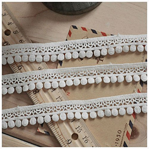 Ivory 5 Yards 3/4 Inches French Dot Venise Lace Trim Curtains Accessory Costumes Supplies Craft (Dot Trim)