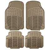 2014 cadillac cts floor mats oem - FH Group F11305BEIGE Tan All Weather Floor Mat, 4 Piece (Full Set Trimmable Heavy Duty)