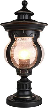 DEI QI Cristal europeo Farola victoriana Luces de la columna de la pared Exterior Lámpara de