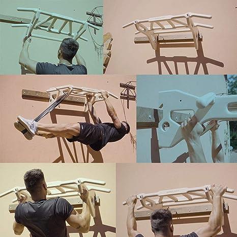 Gorilant®- Barra de Dominadas, Pulls up Bar, Múltiples agarres, hasta 130kg, Workout, se desmonta de la Pared