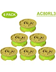 """Thten 11ft 0.080"""" Replacement Trimmer Spool for Ryobi One Plus AC80RL3 18v 24v and 40v Cordless Trimmers Line Refills Weed Wacker Auto-Feed Twist Single Line Parts"""