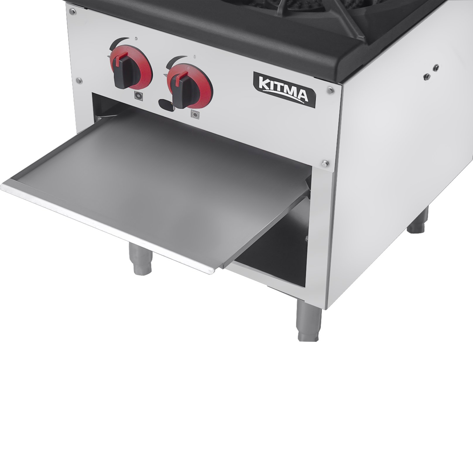 18 Inches Single Stock Pot Stove - KITMA Natural Gas Countertop Stock Pot Range with 2 Manual Controls - Restaurant Equipment for Soups by Kitma (Image #3)