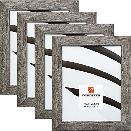 x 10 Inch Picture Frame, Gray Barnwood, Set of 4 ()
