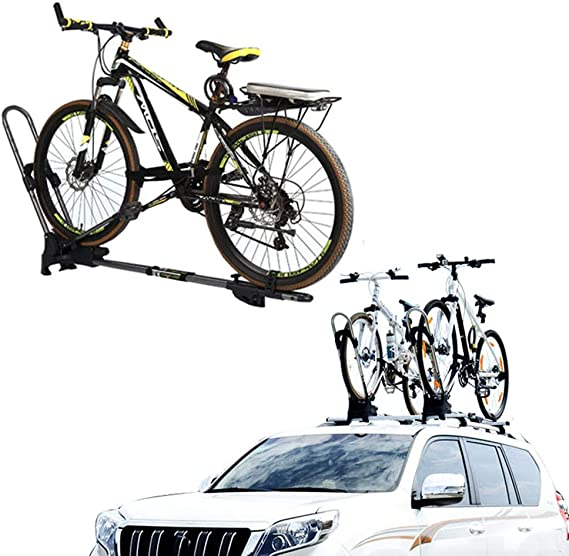 Lyzpf Ahrradträger Auto Bike Fahrrad Dachträger Universal Mountain Fahrradträger Multifunktion Transport Portable Outdoor Sport Freizeit