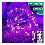 KNONEW Halloween Fairy String Lights 72ft 220 LED 8
