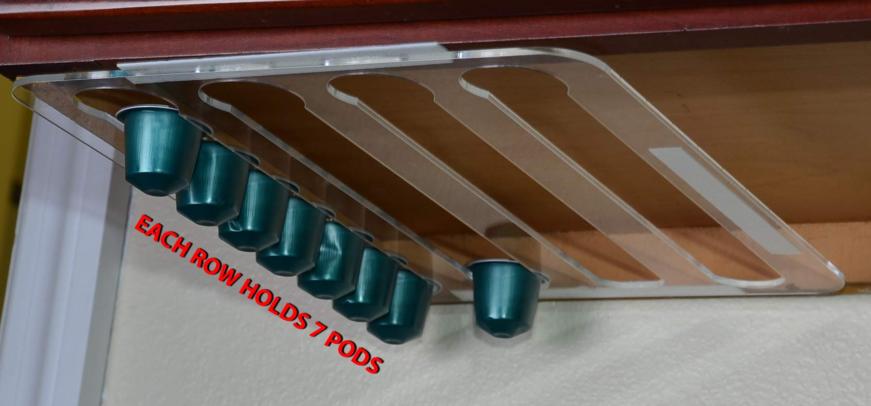 Marketing Holders Under Cabinets Coffee Pod Holder for Nespresso Lavazza Organizer Qty 6 by Marketing Holders (Image #5)