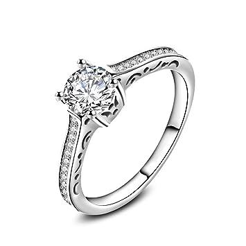 Bagues À Skyllc Mariage Blanc Pour Or Plaqué Fiançailles Mode En Acier Femmes La Diamant De Meilleur Anneau Filles NO8PkXZnw0