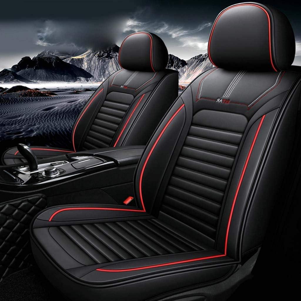 Sitzbezüge Leder Universal Autositzbezüge Vordersitze Und Rückbank Komplettset For Auto Zubehör Innenraum Color Black Red Auto