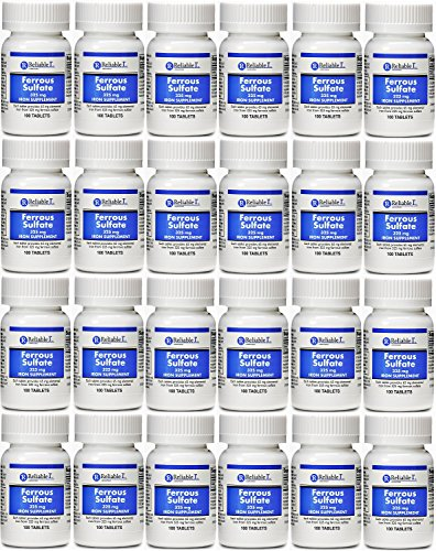 Ferrous Sulfate Iron 325 mg Generic for Feosol 100 Tablets PACK of 24