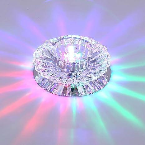 KTOL Pequeño Led lámpara de techo de cristal Instalación de ...