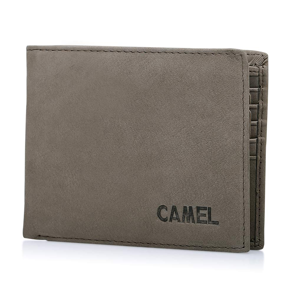 Men RFID Blocking Wallets, Genuine Leather Bifold Purse Money Clips Card Cases