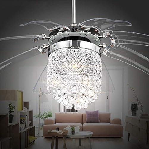 42'' Modern Crystal Ceiling Fan Light