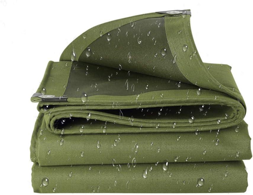 ZZZR Espesar Lona,A Prueba de Lluvia Techo Impermeable Tela de Protección Solar,Durable y fácil de Plegar,impermeabilizante,toldo de Tela del Camión 500g/m² -6m*8m Verde Lona Impermeable Exterior
