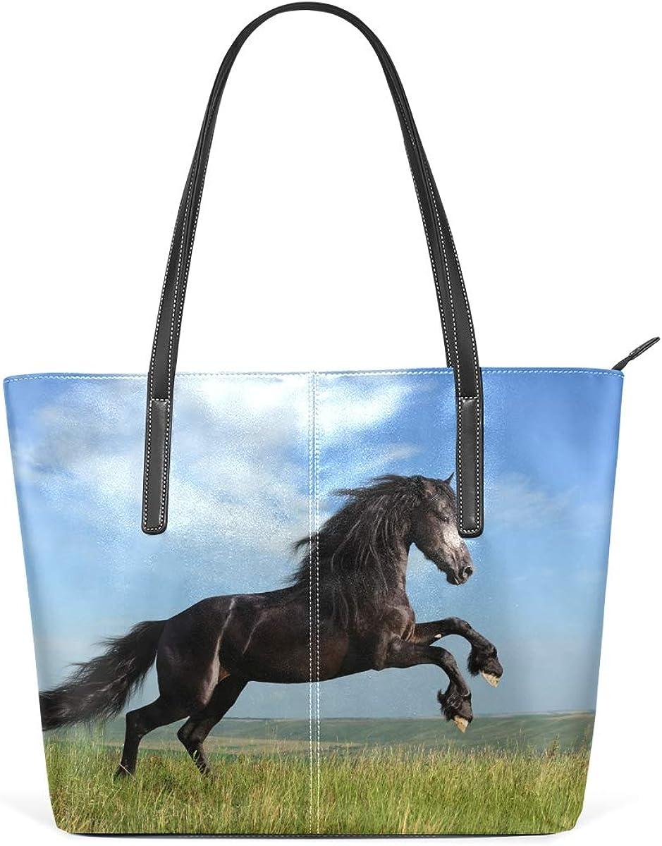 DEZIRO Sac à main à bandoulière pour femme Motif cheval Hop