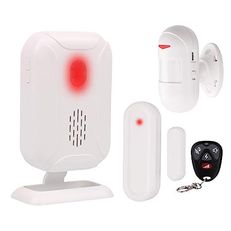 Mengshen Kit De Alarma Detector De Movimiento - Sistema De Alarma De Seguridad para El Hogar Admite 5 Modos, 36 Melodías, Larga Distancia De ...