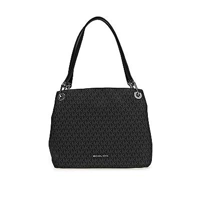 dc2902f39691 Amazon.com: Michael Kors Raven Ladies Large Signature Logo Twill Shoulder  Bag 30H6SRXE3V001: Shoes