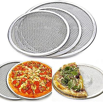 huplue soporte de malla red de Ronda de Pizza bandeja Protector de bandeja de horno para