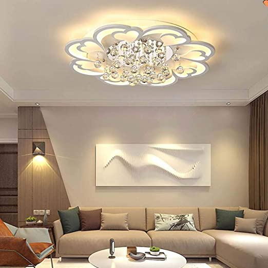 QCKDQ Vivir Luces De Techo LED De Habitaciones, Moderno Flush ...