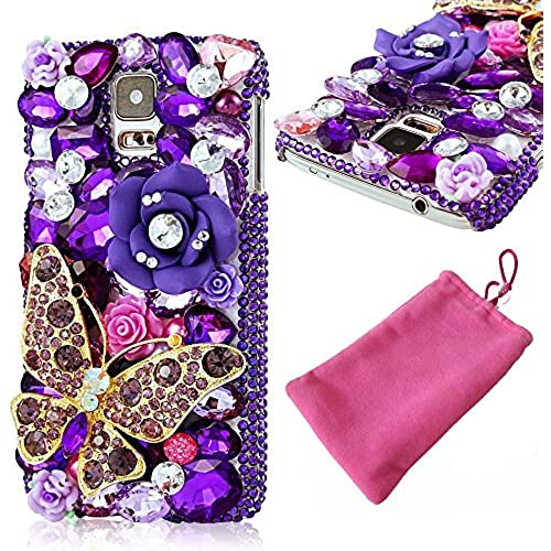 Galaxy S7 Case, LU2000 Fashion Jewelry Pearl And Rhinestone Sparkle Bedazzled Jeweled Bling Full 3D Crystals [ Sales