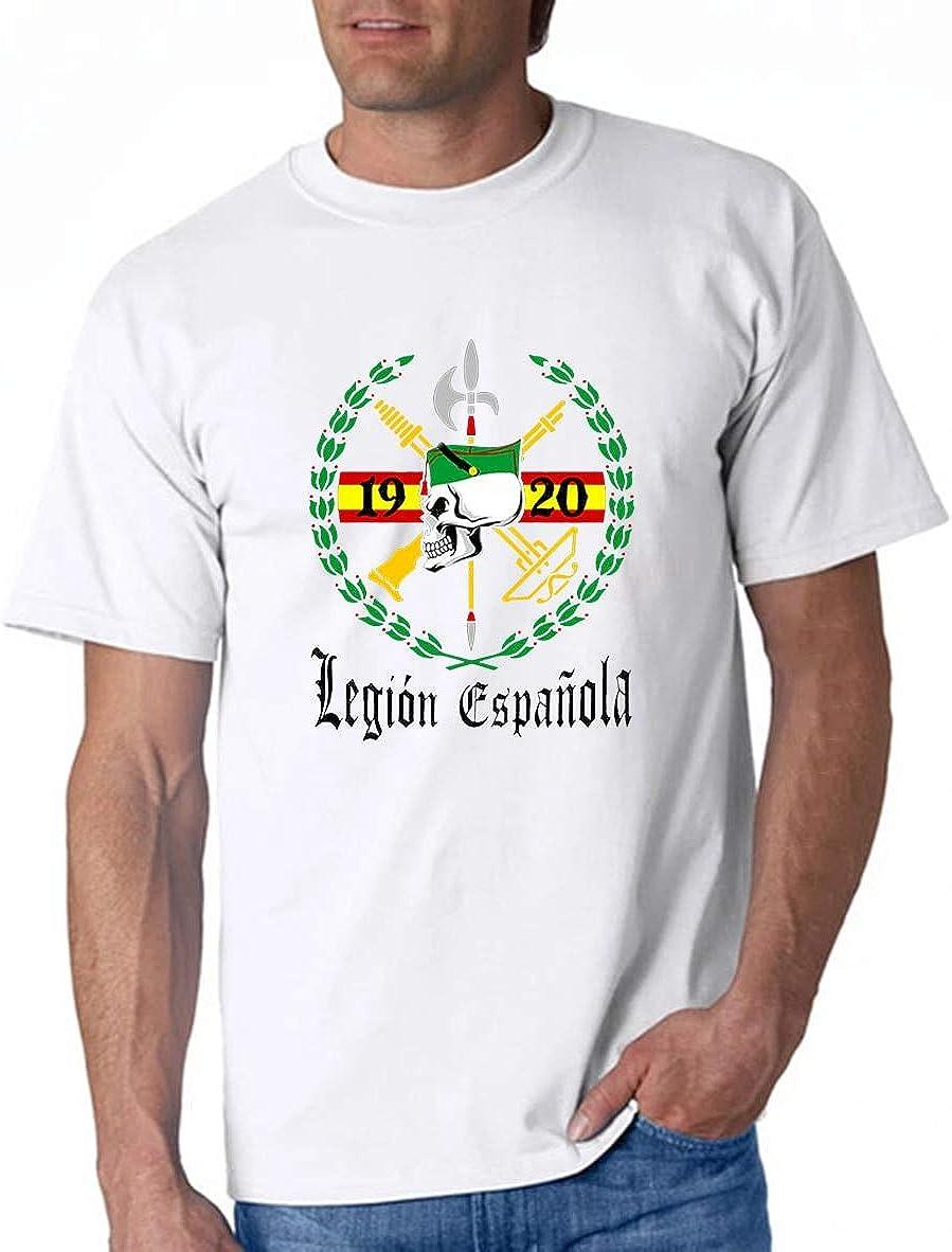 Spanish Army Soldier Legion Espanola 1920 T-Shirt Sommer Baumwolle Mann T-Shirt Elastizität Lose druckende Hemden Bequemes Rundhalsausschnitt für ...