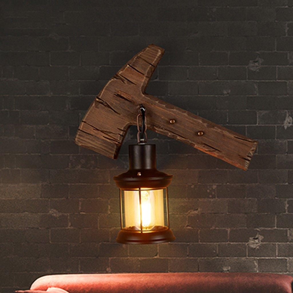 QFF Nordic Retro Restaurant Bar Lampe Wohnzimmer Schlafzimmer Nachttisch Lampe Holz Wand Lampe