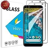 Android One S7 ガラスフイルム AQUOS Sense3 Basic フイルム【2枚セッ】 日本旭硝子製 強化ガラス 液晶 保護フィルム 貼り付け簡単 硬度9H 防指紋 透過率98.5% One S7/Sense 3 Basic 用
