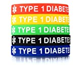 LMXXV Pack of 5 Medical Alert Type 1 Diabetes