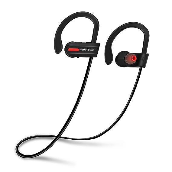 Auriculares inalámbricos Homssssw, Bluetooth, con almohadillas para los oídos, IPX7, impermeables deportivos, auriculares 4.1 con micrófono incorporado y ...