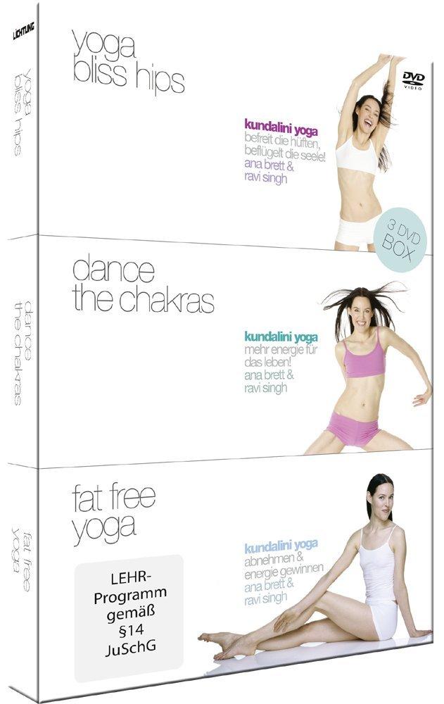 Kundalini Yoga Box - 3 DVDs Yoga Bliss Hips, Dance the ...
