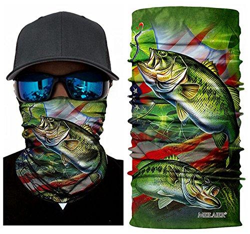 MEILAIER UV Fishing Mask Moisture Wicking Headband Seamless Bandana COOLMAX Microfiber for Cycling Running Hunting Motorcycle Head Wear