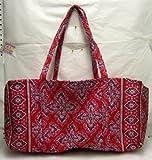 Vera Bradley Large Duffel Bag Frankly Scarlet