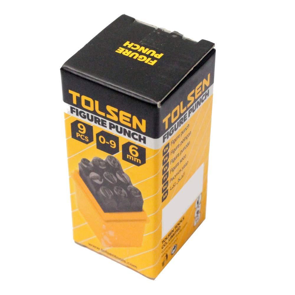 Tolsen Kit 9 cinceles marcadores de n/úmeros de 6mm de Herramientas