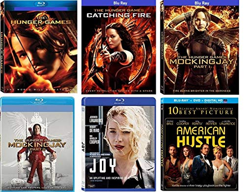 The Hunger Games: Complete 4 Film Collection + Joy & American Hustle- The Hunger Games/ The Hunger Games Catching Fire/ The Hunger Games: Mockingjay - Part 1 & 2 - Blu Ray +DVD 11-Disc Limited Edition