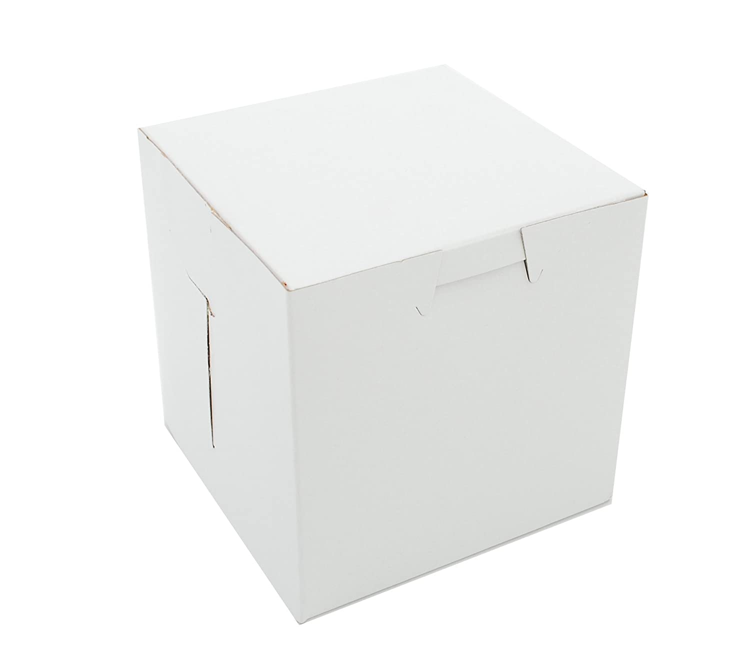 Southern Champion Tray 0907 Premium Clay Coated Kraft Paperboard White Non-Window Lock Corner Bakery Box, 4