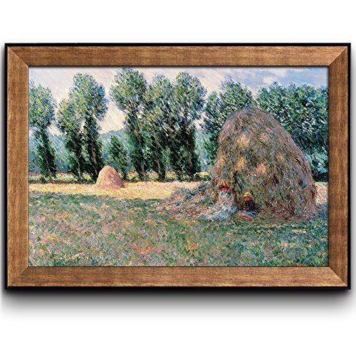 Haystacks by Claude Monet Framed Art