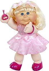 "Cabbage Patch Kids 14"" Kids - Blonde Hair/Blue Eye Girl Doll in ""Pink Heart Dress"" Fashion"