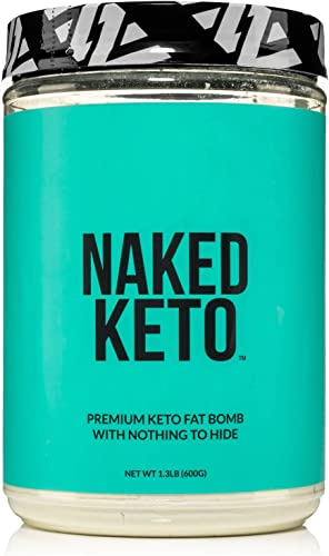 Naked Keto – Premium Keto Fat Bomb Powder – Unflavored – Only Two Ingredients Gluten-Free, Soy Free Keto Supplement with no GMOs and No Artificial Sweeteners 1.3 LB