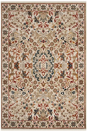 Safavieh Kashan Collection KSN301C Traditional Ivory Area Rug (9' x 12')