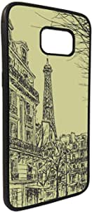 Abstract drawing of Paris in different colors Printed Case forGalaxy S7 Edge